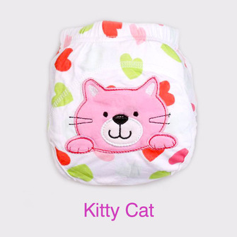 """BIG KID"" Training Pants > Kitty Cat - Sm 3-11kg"