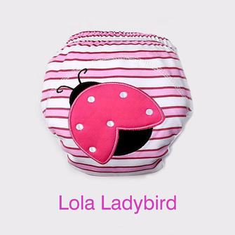 """BIG KID"" Training Pants > Lola Ladybird - Small 3-11Kg"