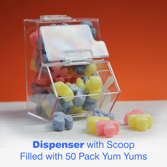 Toilet Yum Yums - 50 Pack With Dispenser